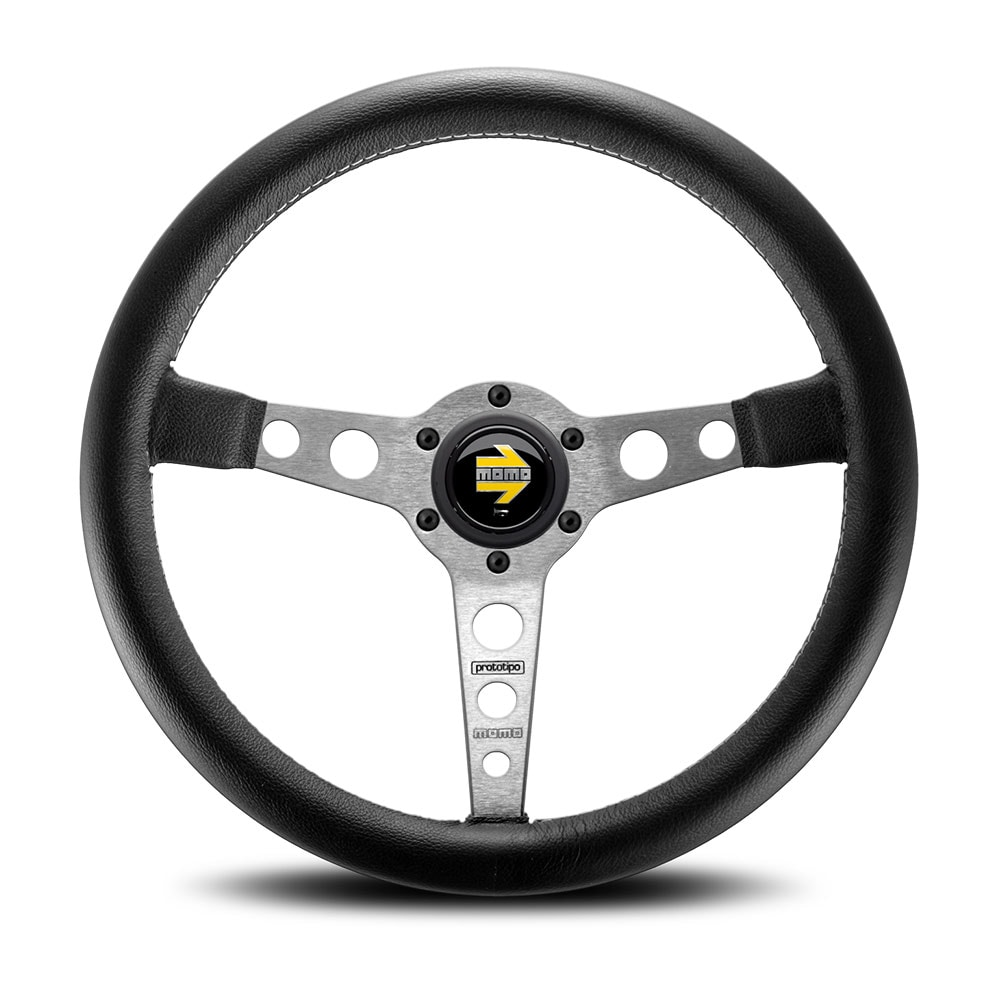 MOMO-steering wheel Prototipo Black/Silver