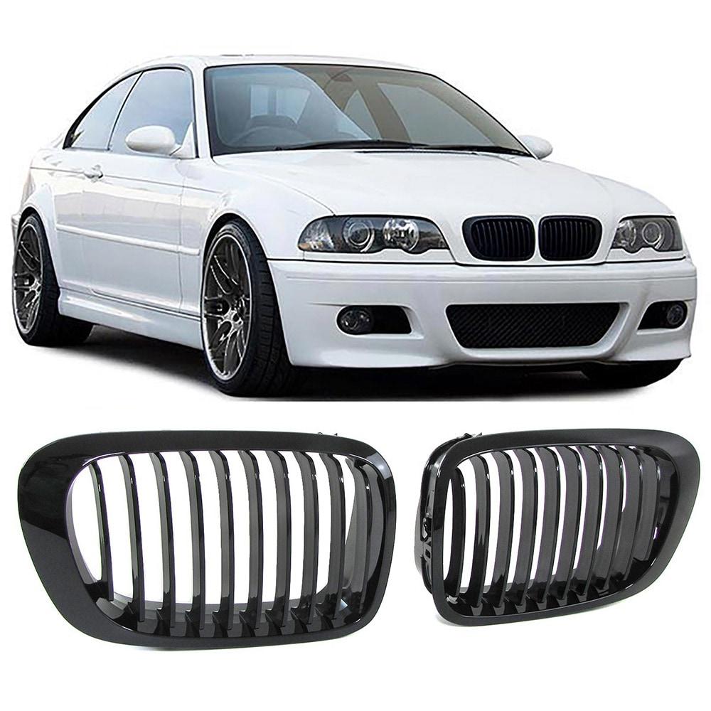 Shiny black kidneys (grille) BMW E46