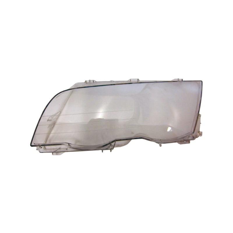 Headlight glass left BMW E46