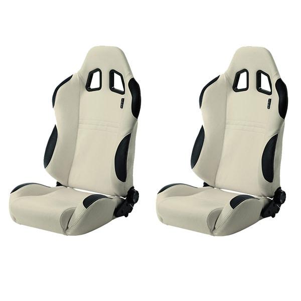 Sports car seat chair White/Black