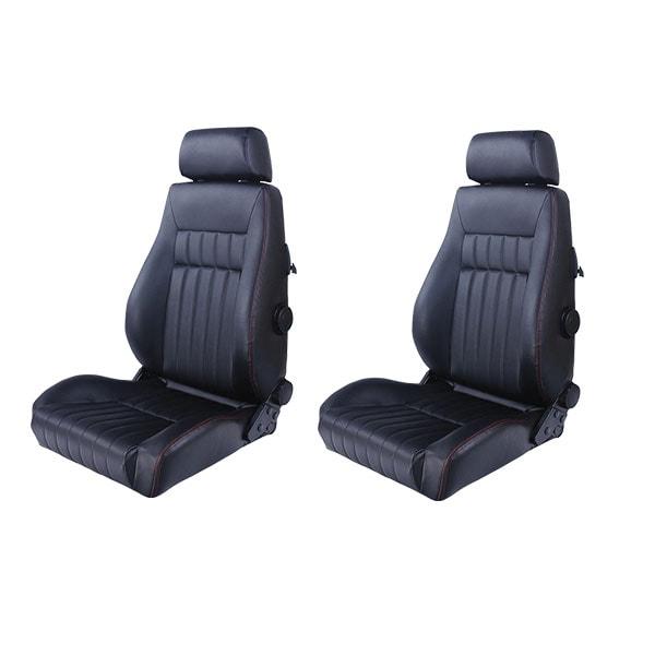 Sports car seat chair Retro Black