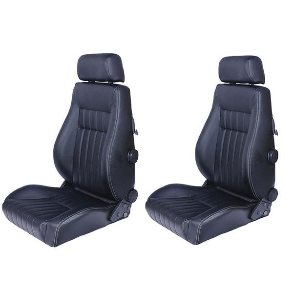 Sports car seat chair Retro Black + grey