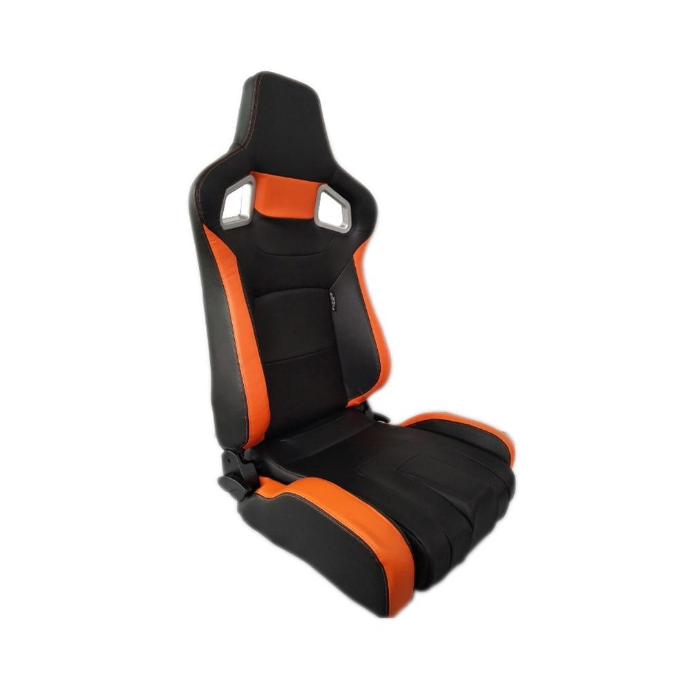 Sports car seat chair Type RS6-II PU Black/Orange