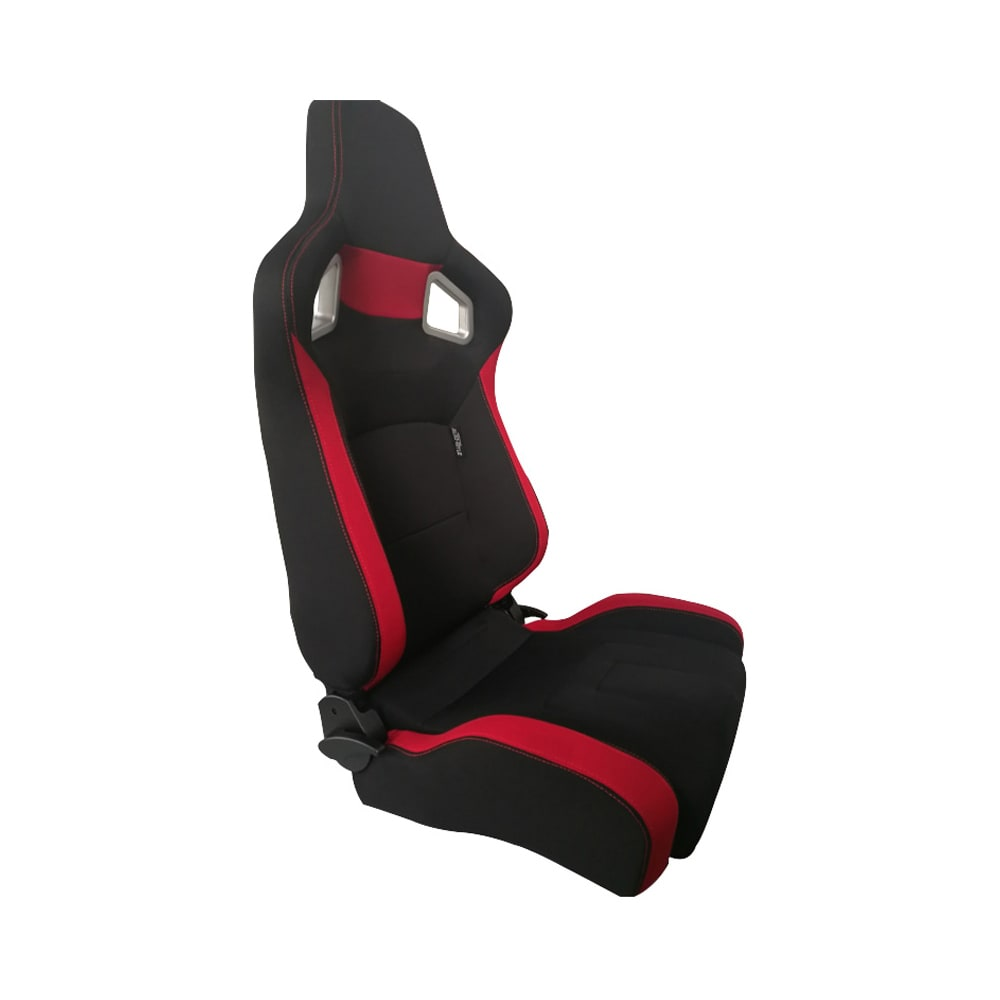 Sports car seat chair Type RS6-II Textile Black/Red