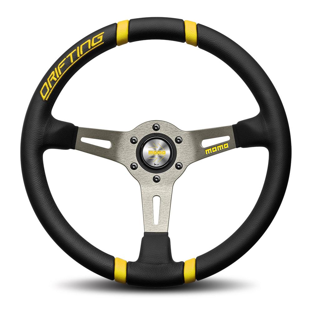 MOMO steering wheel - Drifting Black/yellow